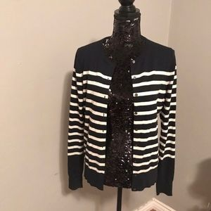 Ann Taylor stripped cardigan